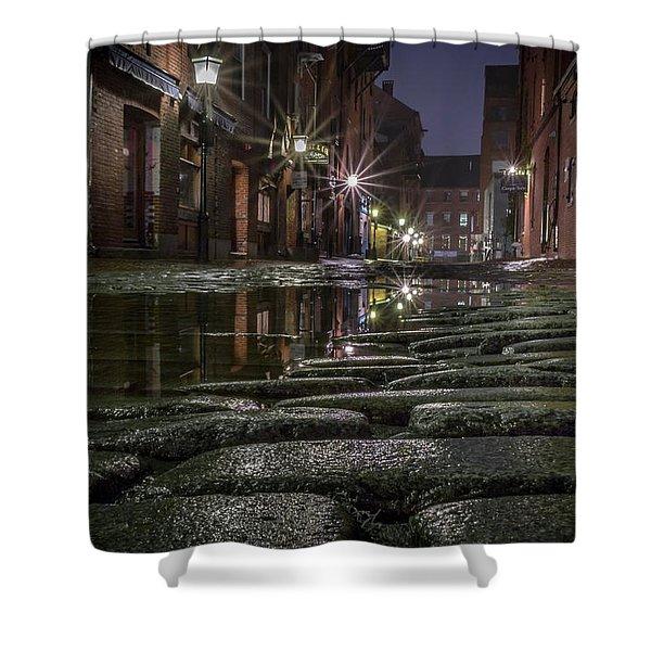 Wharf Street Cobblestones Shower Curtain