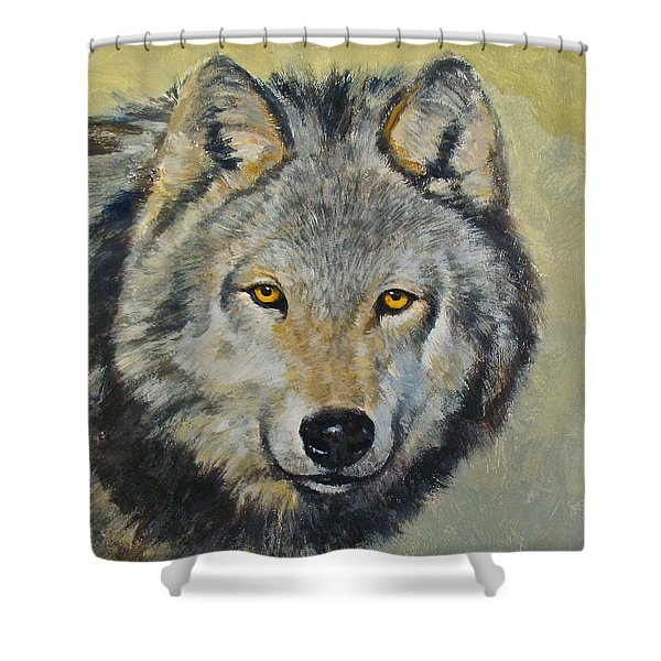 Shower Curtain featuring the painting Heres Lookn At You..kid....kid....kid by Cliff Spohn