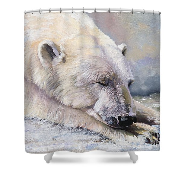 What Do Polar Bears Dream Of Shower Curtain