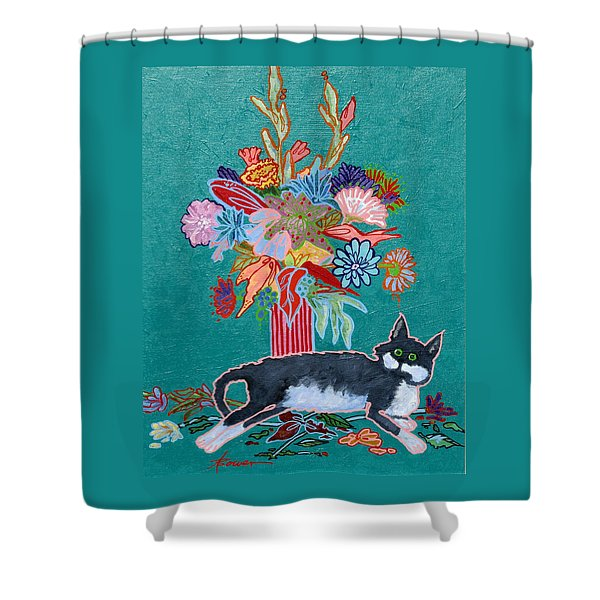 What Flowers Shower Curtain