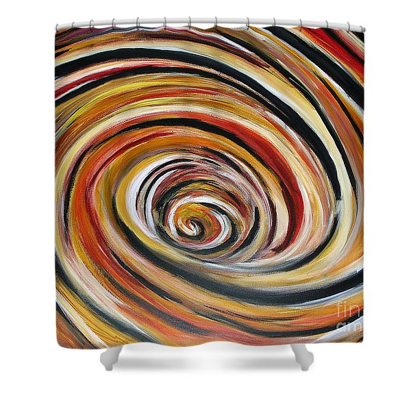 What Goes Around Comes Around Shower Curtain