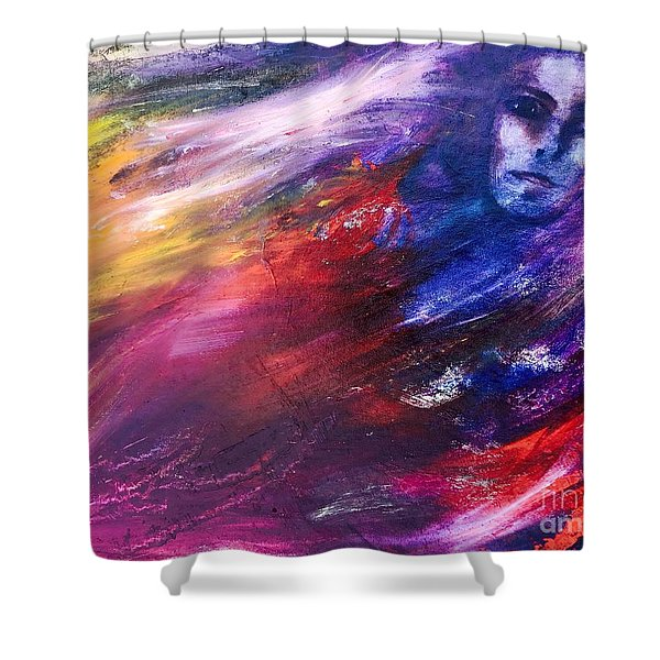 What Hides  Shower Curtain
