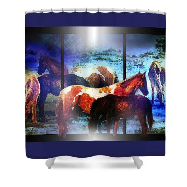 What  Horses Dream Shower Curtain