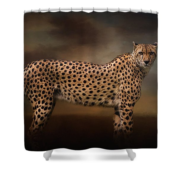 What You Imagine - Cheetah Art Shower Curtain