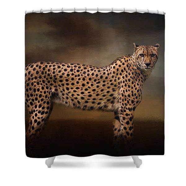 What You Imagine - Cheetah Art Shower Curtain