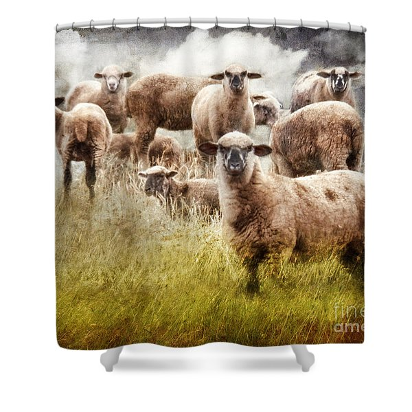 What You Lookin' At? Shower Curtain