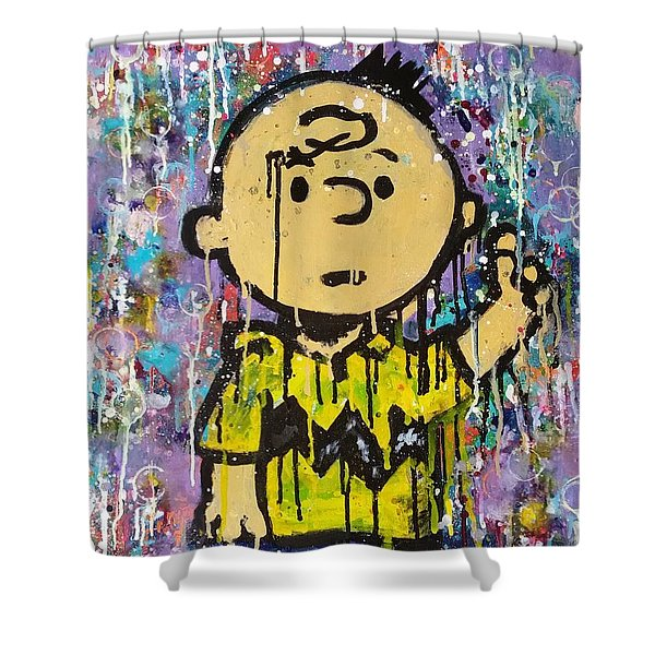 What.up.chuck Shower Curtain