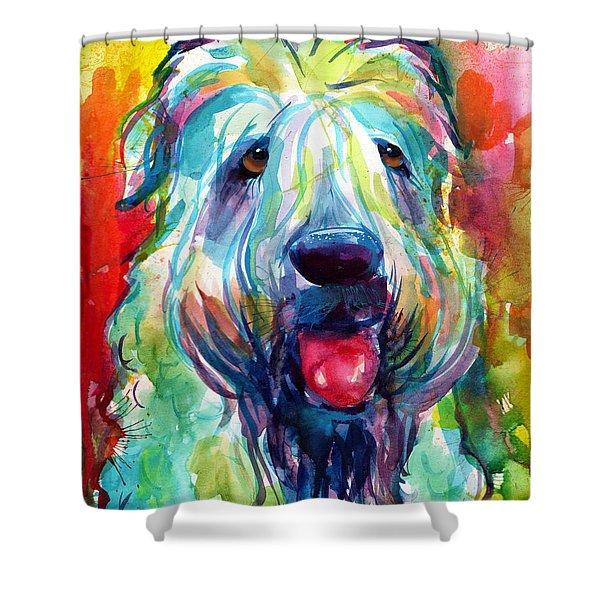 Wheaten Terrier Dog Portrait Shower Curtain