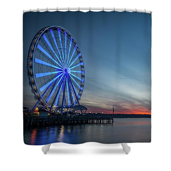 Wheel On The Pier Shower Curtain