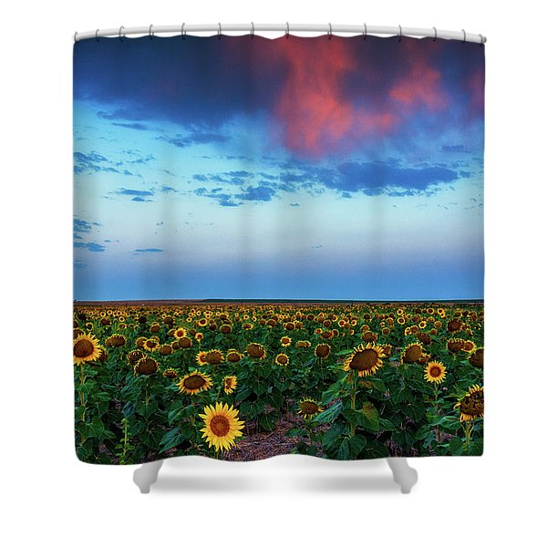 Shower Curtain featuring the photograph When Clouds Dance by John De Bord