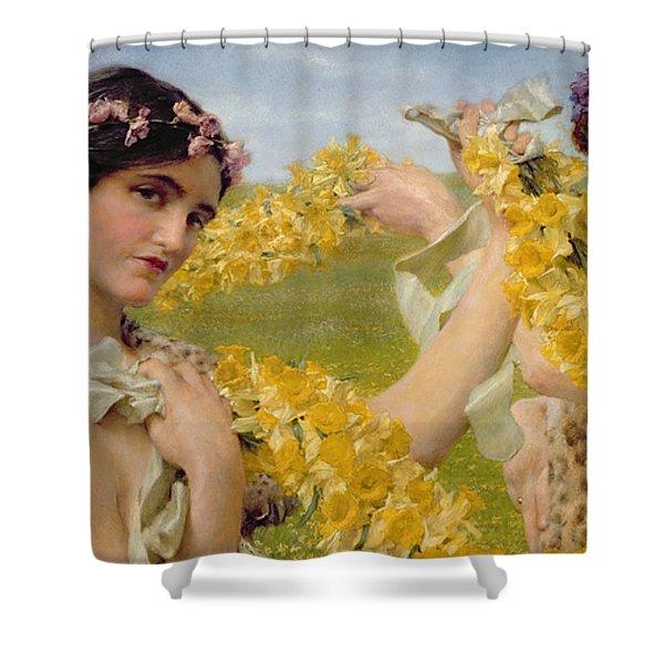 When Flowers Return Shower Curtain
