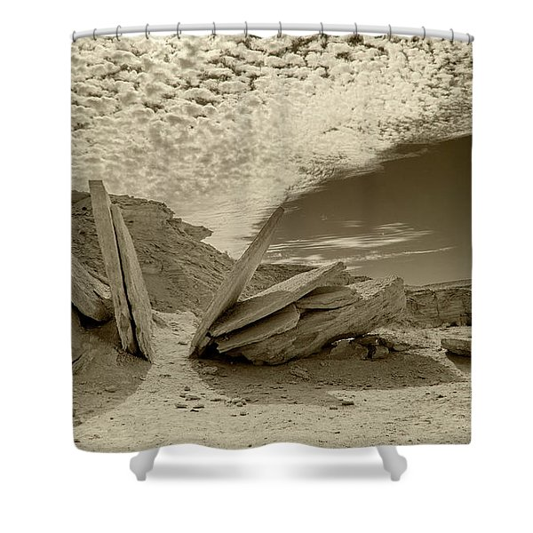 When God Cuts Slices..... Shower Curtain