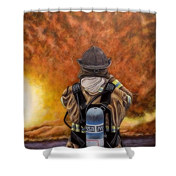 When Hell Comes To Visit Shower Curtain