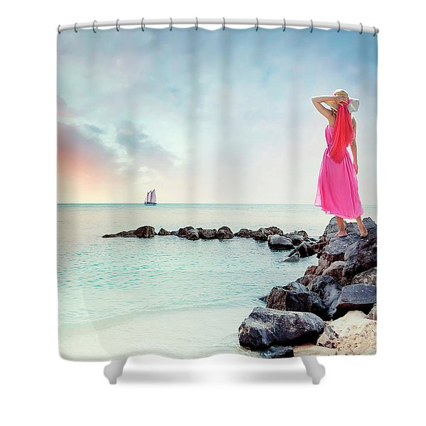When My Dreamboat Comes Home Shower Curtain