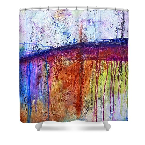 When My Mind Is Free Shower Curtain
