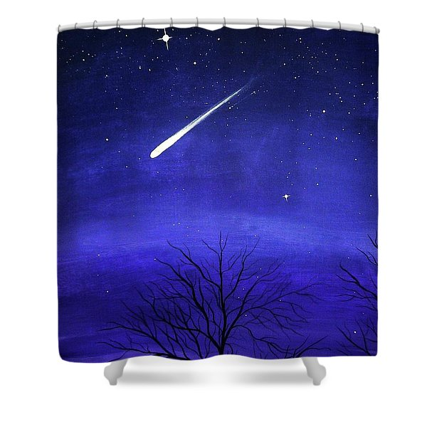 When Stars Fall Shower Curtain