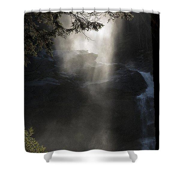 When Sunlight And Water Spray Meet 03 Shower Curtain