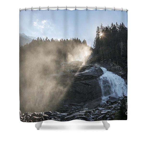 When Sunlight And Water Spray Meet 10 Shower Curtain