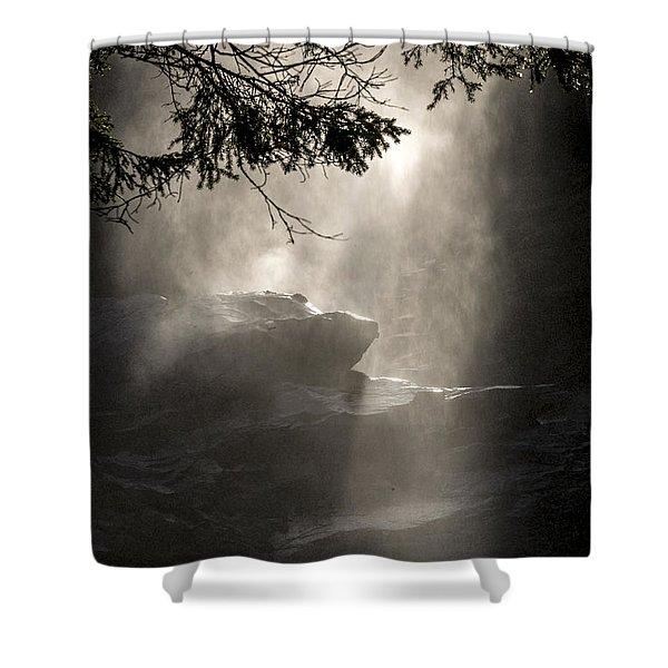 When Sunlight And Water Spray Meet Shower Curtain