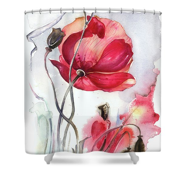 When The Mists Fall Down Shower Curtain