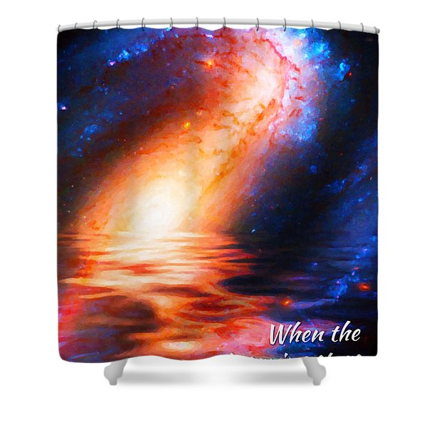When The Morning Stars Sang Shower Curtain