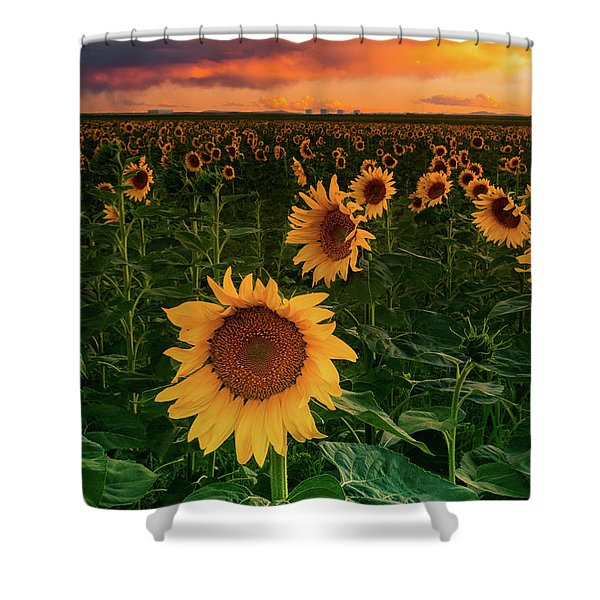 Shower Curtain featuring the photograph When The Sky Sings by John De Bord