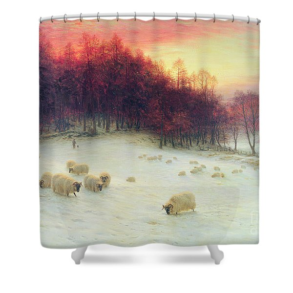 When The West With Evening Glows Shower Curtain