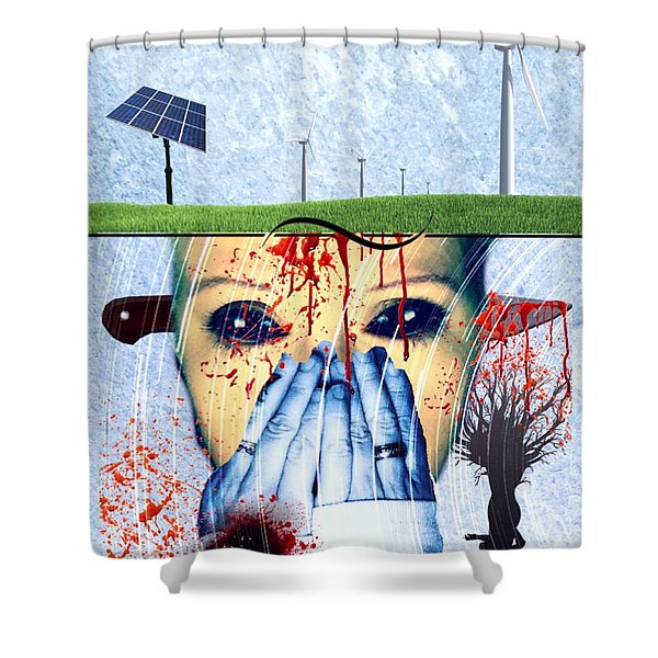 When They Take The Mind Shower Curtain