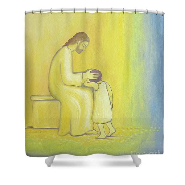 When We Repent Of Our Sins Jesus Christ Looks On Us With Tenderness Shower Curtain