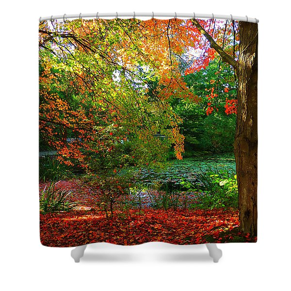 Where Autumn Lingers  Shower Curtain