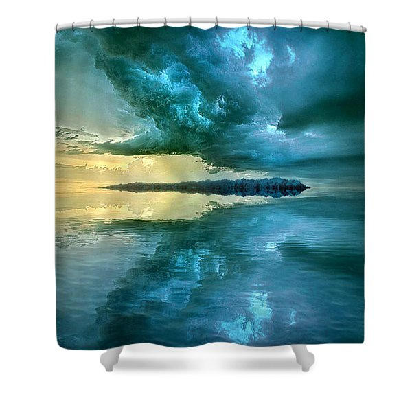 Where The Clock Stops Spinning Shower Curtain