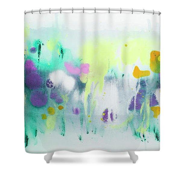 Where The Irises Grow Shower Curtain
