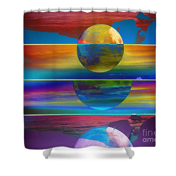 Where The Land Ends Shower Curtain