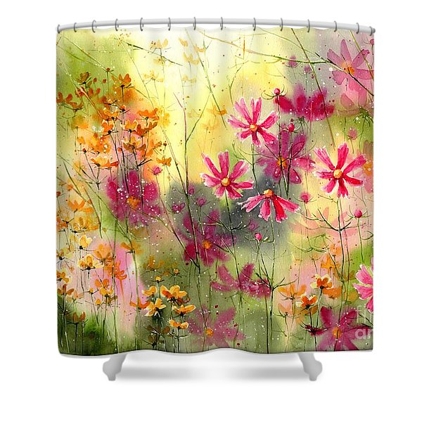 Where The Pink Flowers Grow Shower Curtain