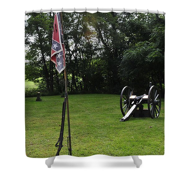 Where The Rebs Camp Shower Curtain