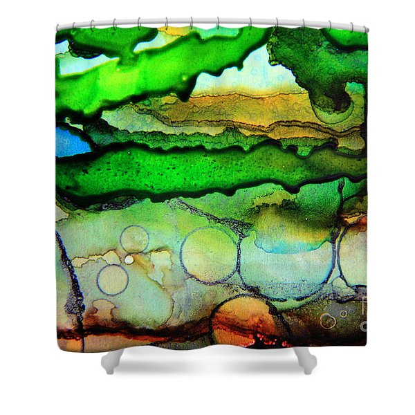 Where The Rivers Flow.. Shower Curtain