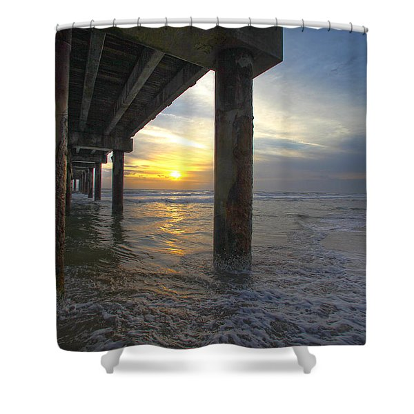 Where The Sand Meets The Surf Shower Curtain