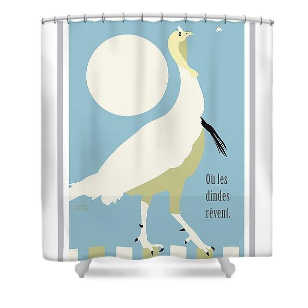 Where Turkeys Dream Shower Curtain