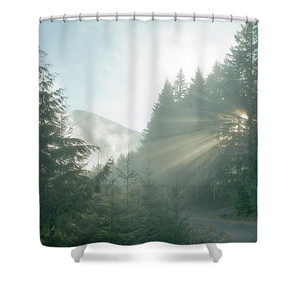 Where Will Your Road Take You? Shower Curtain