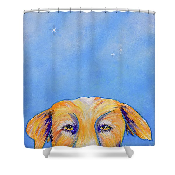 Shower Curtain featuring the painting Where's The Food? by Mary Scott