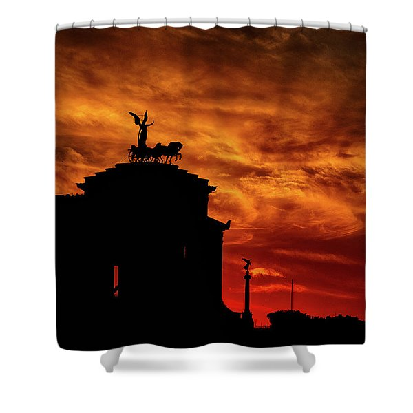 While Rome Burns Shower Curtain