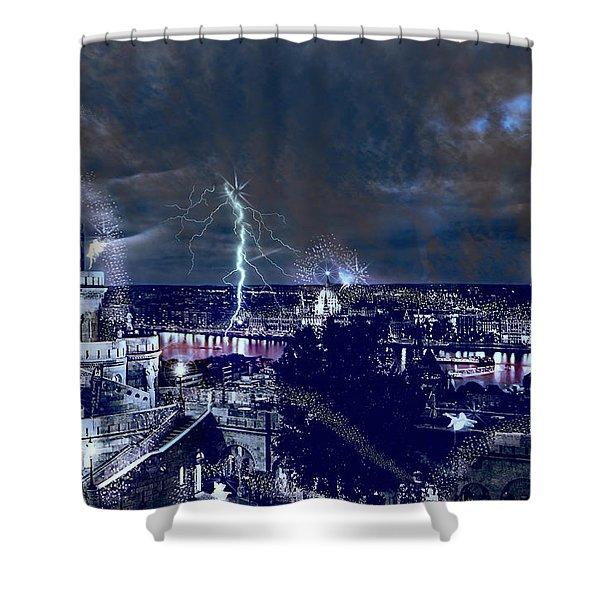 Whimsical Budapest Shower Curtain