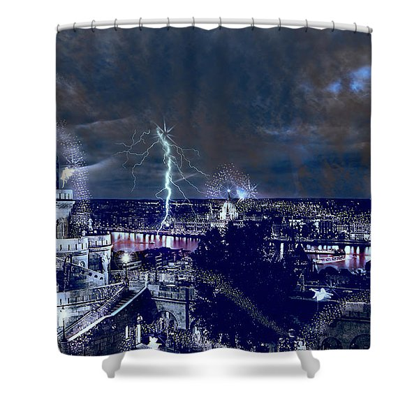Whimsical Budapest Shower Curtain