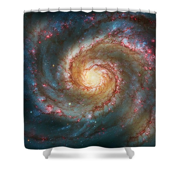 Whirlpool Galaxy  Shower Curtain
