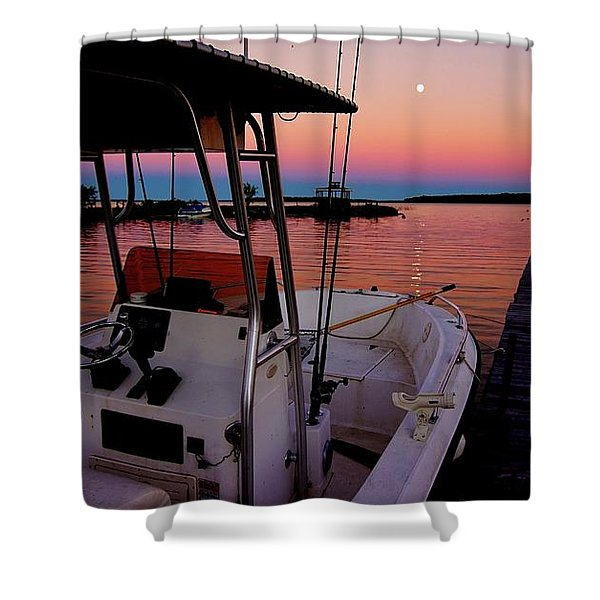 Whiskey Bay Shower Curtain