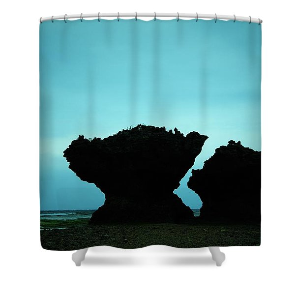 Whisper Of A Couple Rocks Shower Curtain