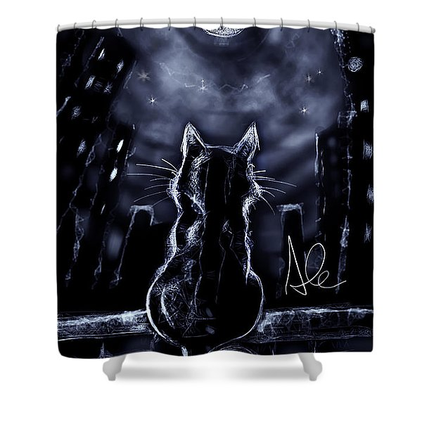 Whispering To The Moon Shower Curtain