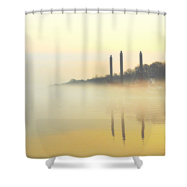 Whispers In The Wind - Contemporary Art Shower Curtain