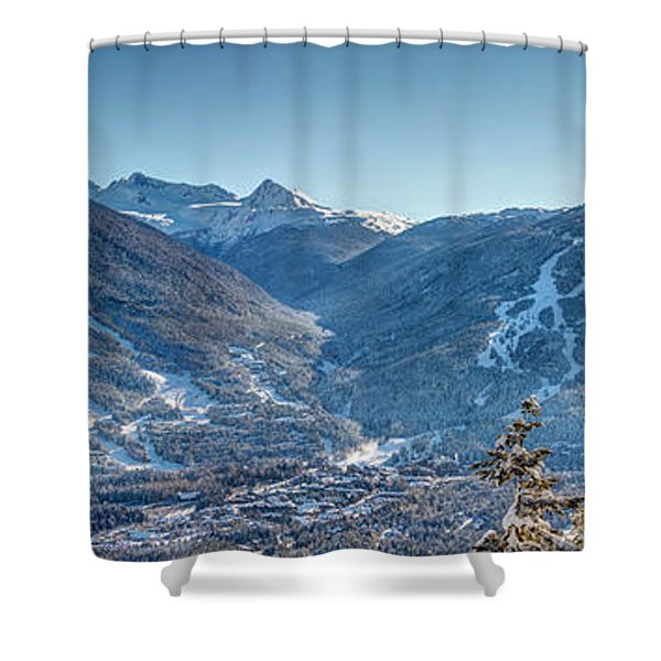 Whistler Blackcomb Ski Resort Shower Curtain