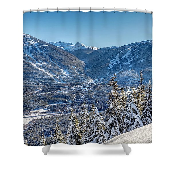 Whistler Blackcomb Winter Wonderland Shower Curtain